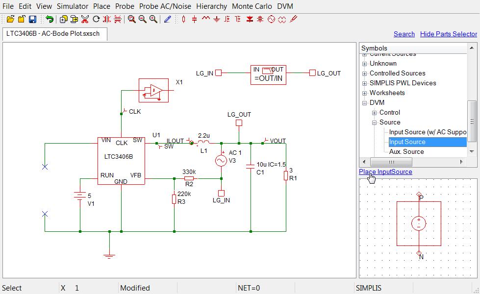 DVM Tutorial: 3.1 Editing the Schematic